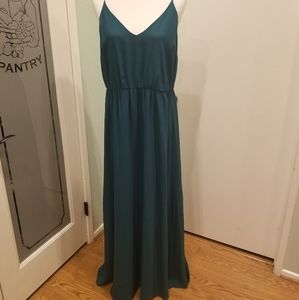 Loft Long Maxi Dress with Strappy Top NWOT